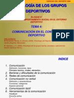 TEMA 4. Comunicación en el contexto deportivo