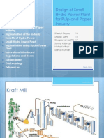Design of Small Hydro Power Plant for Pulp and Paper Industry (1)