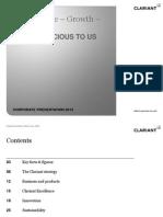 Clariant Corporate Presentation English