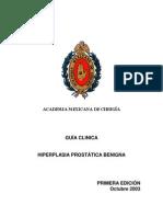 GUIA CLINICA Hiperplasia Prostatica Benigna - 2003 - Mexico