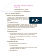 Nursing Care Plan of Client With Fluid and Electrolyte Imbalance