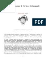 Dottrina Generale Di Martinez de Pasqually
