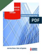 Impactos da Manutenção no Desempenho de uma Edificação - João Alves Pacheco