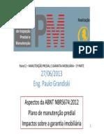 Manutenção Predial e Garantia Imobiliária - Paulo Grandiski