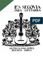 SEGOVIA - Seis Transcripciones de Mediana Dificultad Para Guitarra (Guitar - Chitarra)