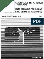 1 - Censos - Resultados Definitivos. Braga - 1981