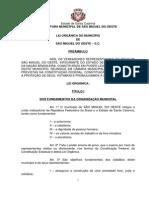 Lei Organica Sao Miguel