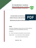 Analisis Modal de Sistemas Acustico Estructurales Acoplados