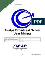 AvalpaBroadcastServerUserManual-v3.0