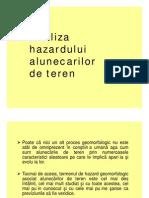 Analiza Hazardului Alunecarilor de Teren