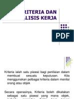 03 Kriteria Dan Analisis Kerja