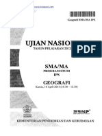 Naskah Soal UN Geografi SMA 2013 Paket 1