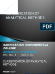 CLASSIFICATION OF ANALYTICAL METHODS