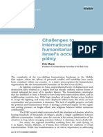 Challenges to international humanitarian law: Israel's occupation policy by Peter Maurer President of the International Committee of the Red Cross