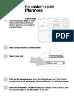 Half Sheet Planners Custom Directions
