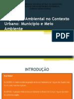 Legislação Ambiental no Contexto Urbano apresentacao