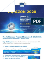 Van Der Pyl presentation on Horizon 2020