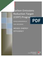 CERT Energy Efficiency