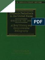 Hispanic Periodicals in the US, Origins to 1960
