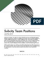 Subcity Team Positions (Jan/Feb 2014)