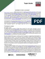 English Language DMI Topic Guide 2012