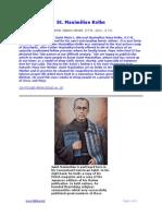 St. Maximilian Kolbe (continued)