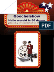 Folder Goochelshow Hallo Wereld in 80 Dagen Van Goochelaar Aarnoud Agricola Buikspreker