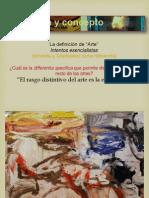 crítica a definiciones esencialistas de Tatarkiewicz 05. A. = expresión, experiencia estética, choque