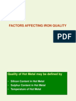 Factors Affecting Iron Quality