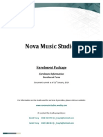 nova music studios - enrolment package 2014