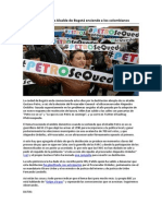 Destitución de Alcalde de Bogotá enciende a los colombianos