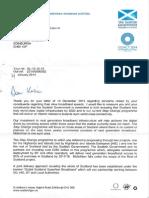 Letter From Nicola Sturgeon MSP