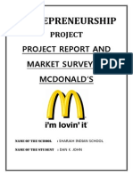 Entrepreneurship Project Mcdonalds-slideshare
