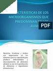 3. Características de MO que predominan en los alimentos