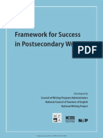 Framework for Success Postsecondary Writing