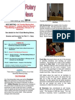 Rotary Club of Moraga, CA Newsletter for January 28th, 2014