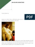 3 Coisas Que Jesus Ora Em Nosso Favor