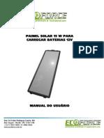 Manual Instruções - Placa Solar 15W 8968