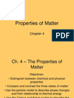 ch  4 - the properties of matter
