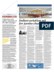 Indian Aviation Set for Jumbo Changes - Gulf Times 30 Jan 2014