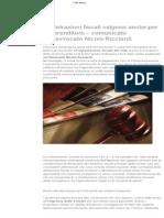 Avvocato Nicola Ricciardi - Diritto a Agevolazioni Fiscali