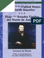 Journey to the US of North America /Viaje a Los Estados Unidos de Norte America by Adina de Zavala