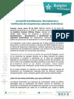 Boletin de Prensa Equipos Tecnicos Mesa Sectorial 29 Enero 2014