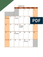 TAX Calendar Jan 2014 Due Date