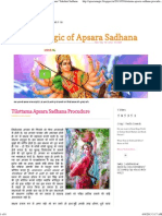 Tilottama Apsara Sadhana Procudure