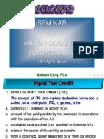 Delhi Input Tax Credit