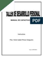 MANUAL DE CAPACITACIÓN desarrollo personal