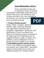 Covert Emotional Manipulation Tactics