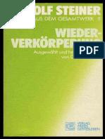 RUDOLF  STEINER - TTB 09 - WIEDERVERKÖRPERUNG