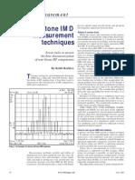 RFcharacterization - IMD Testing